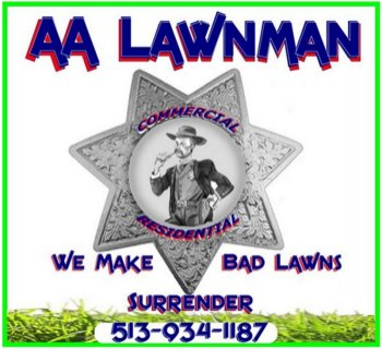 AA Lawnman Lawn Care Logo